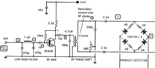 sig levels - input amp and product detector
